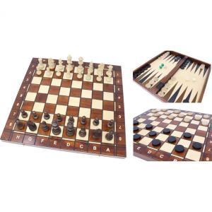 チェスセット/バックギャモン/チェッカー 木製 41cm