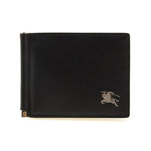 【QUILLEN】線のような凹凸があるカーフレザーを使用したマネークリップ式の折財布。「馬上の騎士」...