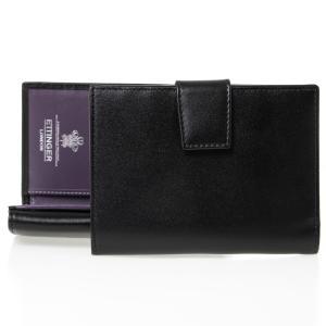 エッティンガー ETTINGER 財布 メンズ 二つ折り財布 ブラック BRIDLE PURSE N...