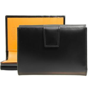 エッティンガー ETTINGER 財布 メンズ 二つ折り財布(小銭入れ付) ブラック BRIDLE ...