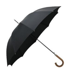 【GA2 MALACCA HANDLE】シンプルなデザインのワンタッチ式長傘。マラッカハンドルにシル...