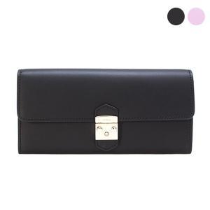 【METROPOLIS XL BIFOLD】メタルロックが印象的なフラップ式の長財布。スムースレザー...