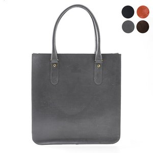 【2 HANDLE TOTE BAG】すっぽりとA4サイズの書類が入るトートバッグ。ブライドルレザー...