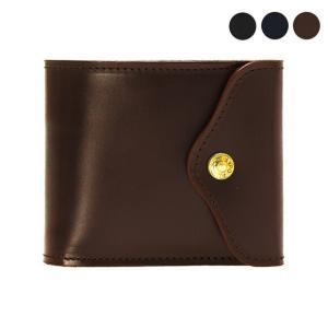 【SLIDING WALLET】洗練されたデザインの折財布。ブライドルレザーを使用しており、使い込ん...