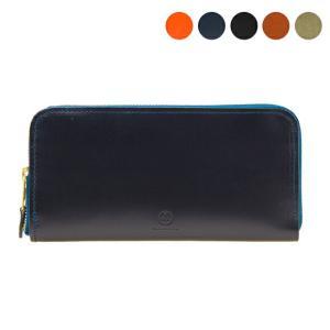 【ZIP AROUND LONG PURSE】大容量で使い勝手の良いラウンドジップ長財布。中央のコイ...