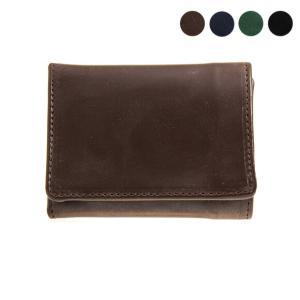 【TRIFOLD WALLET】コンパクトで使い勝手の良い三つ折り財布。ジャケットの内ポケットに収納...