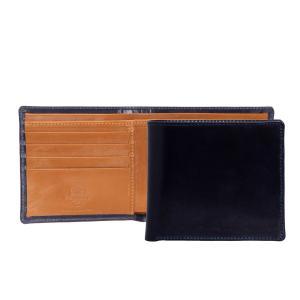 【COIN WALLET】シンプルな二つ折りレザー財布。素材のブライドルレザーは、はじめこそ硬さを感...