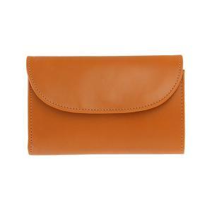 【THREE FOLD WALLET 】シンプルなデザインのレザー財布。素材のブライドルレザーは、は...