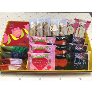 千の葉菓集 5(20個入 パイ:苺チョコ /MS:苺カプ ダク2種入)|chiba-orandaya