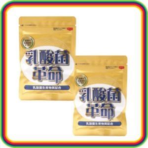 乳酸菌革命 健康いきいき倶楽部 2袋セット 62粒入×2袋 乳酸菌 菌活|chibamart