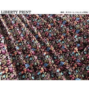 リバティ タナローン 2020ss Poet's Meadow ポエッツメドゥ えんじ 36301117-SD20C 10cm単位 生地 chibikitchen 04