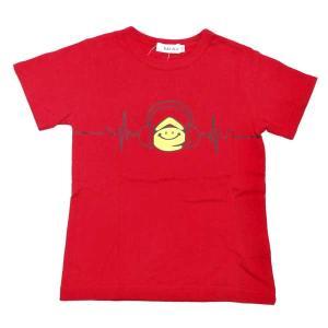 半袖Tシャツ eくんヘッドフォン 赤 ベビー 子供 男子