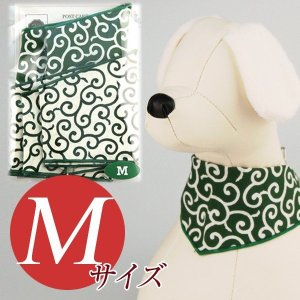 犬用アクセサリー/バンダナ中・5枚パック(唐草模様2色パック)クリックポスト対応商品 布製ハンドメイド|chic-alors