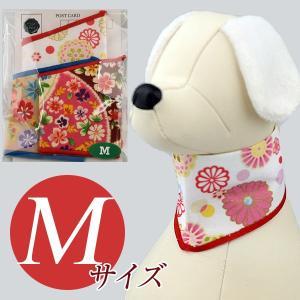 犬用アクセサリー/バンダナ中・3枚パック(花和柄)クリックポスト対応商品 布製ハンドメイド|chic-alors