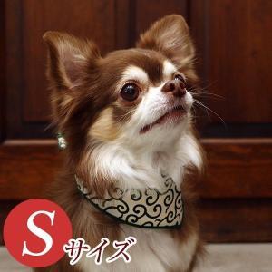 犬用アクセサリー/バンダナ小・5枚パック(唐草模様2色パック)クリックポスト対応商品 布製ハンドメイド|chic-alors