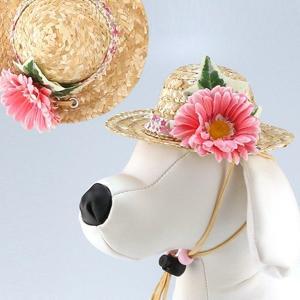 犬用ヘッドドレス  ガーベラ 赤系|chic-alors