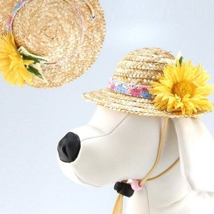 犬用ヘッドドレス  ガーベラ(黄色)|chic-alors