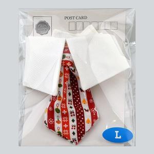 犬用アクセサリー/ネクタイ大(クリスマス柄)赤色クリックポスト対応商品 布製ハンドメイド chic-alors 02