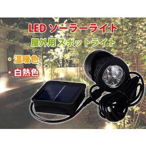 ソーラーライト 屋外用 充電式 スポットライト 温暖色、白熱色 LEDイルミネーション 光センサー内蔵で自動 ON/OFF CHI-S-LSLIGHT|chic