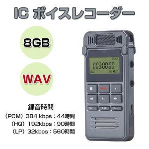 ボイスレコーダー 8GB ICレコーダー コンパクト 固定電話の録音OK WAV デジタル録音機 フラッシュメモリ CHI-SK-999|chic