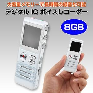 ICレコーダー ボイスレコーダー 8GB 小型 録音機 MP3プレイヤー ◇CHI-AD-BR991|chic