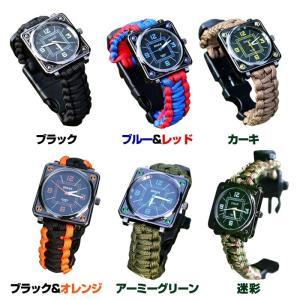 多機能サバイバル腕時計 コンパス ウォッチ ホ...の詳細画像3