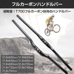 自転車 ハンドルバー クランプ径31.8mm ストレートバー ライザーバー フラット ライズ フルカーボン ロードバイク MTB クロスバイク ◇CHI-ASIACOM-HB-CB chic