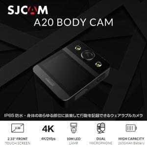 ボディカメラ SJCAM A20 LEDライト付 アクションカメラ ウェアラブルカメラ IP65防水 WiFi アウトドア 自撮り インスタ Youtube CHI-SJCAM-A20 ポイント2倍♪|chic