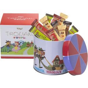 チロリアン丸缶(ショート28本入り) 福岡 銘菓 お土産、贈り物に 千鳥饅頭の千鳥屋