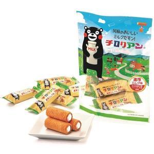 チロリアン(濃厚ミルク味)くまモンパッケージ 福岡 銘菓 お土産、贈り物に 千鳥饅頭の千鳥屋