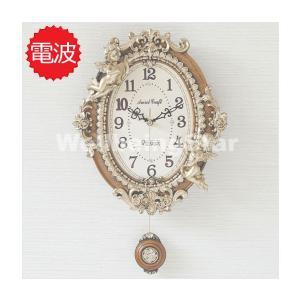 掛け時計 ゴ―ルド エンジェルオーバルb 壁掛け時計 おしゃ...
