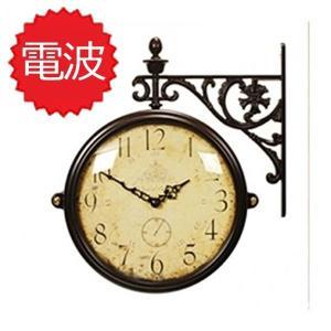 両面電波時計 両面時計 Interior Double Face Wall Clock おしゃれな 低騷音 インテリア 両面壁掛け時計 電波両面時計 M195Br-CR(A)