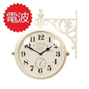 掛け時計 両面電波時計 両面時計 Interior Double Face Wall Clock おしゃれな 低騷音 インテリア 両面壁掛け時計 電波両面時計 M195 Iv-AN(A)