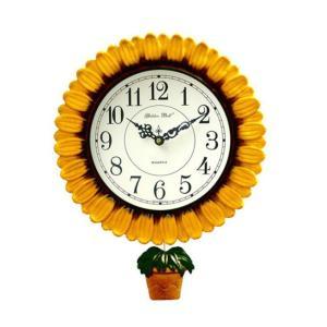 知慧工房最高のヒット商品。   多くのお客様方が認めた商品です. 可愛いひまわりデザインの掛け時計を...
