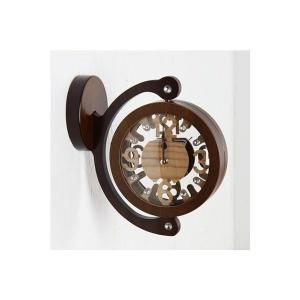 両面時計 天然木SPミニ両面壁掛け時計 おしゃれな 低騷音 インテリア 両面壁掛け時計