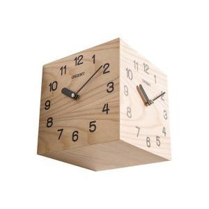 天然木三面時計 両面壁掛け時計 おしゃれな 低騷音 インテリア 両面壁掛け時計