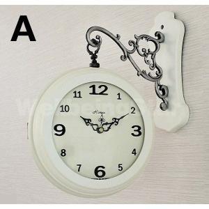 両面時計 掛け時計 Romex シンプル 2種択...の商品画像
