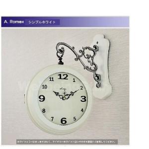 両面時計 掛け時計 Romex シンプル 2種...の詳細画像1