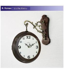 両面時計 掛け時計 Romex シンプル 2種...の詳細画像2