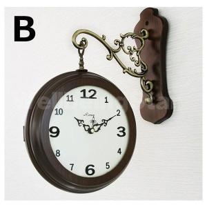 両面時計 掛け時計 Romex シンプル 2種...の詳細画像5