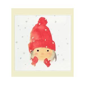 アートプリント No.6『赤い毛糸帽の女の子』