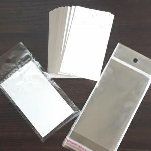 【50枚】白いアクセサリー台紙とOPP袋セット ピアス台紙 ネックレス OPP袋 ディスプレイ プレ...