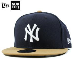 ニューエラ NEWERA スナップバック キャップ 9FIFTY ニューヨーク ヤンキース 紺茶 ネイビー ブラウン|chiki-2