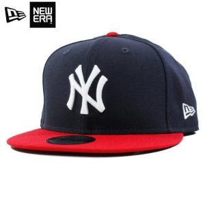 ニューエラ NEWERA スナップバック キャップ 9FIFTY ニューヨーク ヤンキース 紺赤 ネイビー レッド|chiki-2