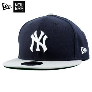 ニューエラ NEWERA スナップバック キャップ 9FIFTY ニューヨーク ヤンキース 紺灰 ネイビー グレー|chiki-2