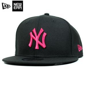 ニューエラ NEWERA スナップバック キャップ 9FIFTY ニューヨーク ヤンキース 黒桃 ブラック ピンク|chiki-2