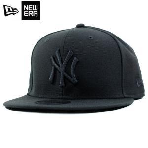 ニューエラ NEWERA スナップバック キャップ 9FIFTY ニューヨーク ヤンキース 黒黒 オールブラック|chiki-2