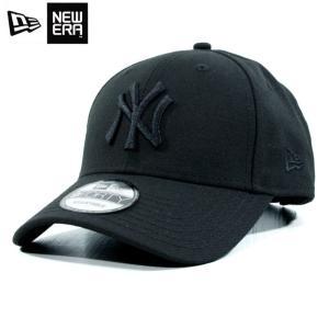 ニューエラ NEWERA ローキャップ ツイルキャップ 9forty ニューヨーク ヤンキース 黒黒 オールブラック|chiki-2