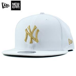 ニューエラ NEWERA スナップバック キャップ 9FIFTY ニューヨーク ヤンキース 白金 ホワイト ゴールド|chiki-2