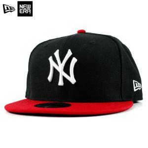 ニューエラ NEWERA スナップバック キャップ 9FIFTY ニューヨーク ヤンキース 黒赤 ブラック レッド|chiki-2